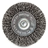 Forney 72733 Wire Wheel Brush, Coarse Crimped with 1/4-Inch Hex Shank, 2-1/2-Inch-by-.012-Inch