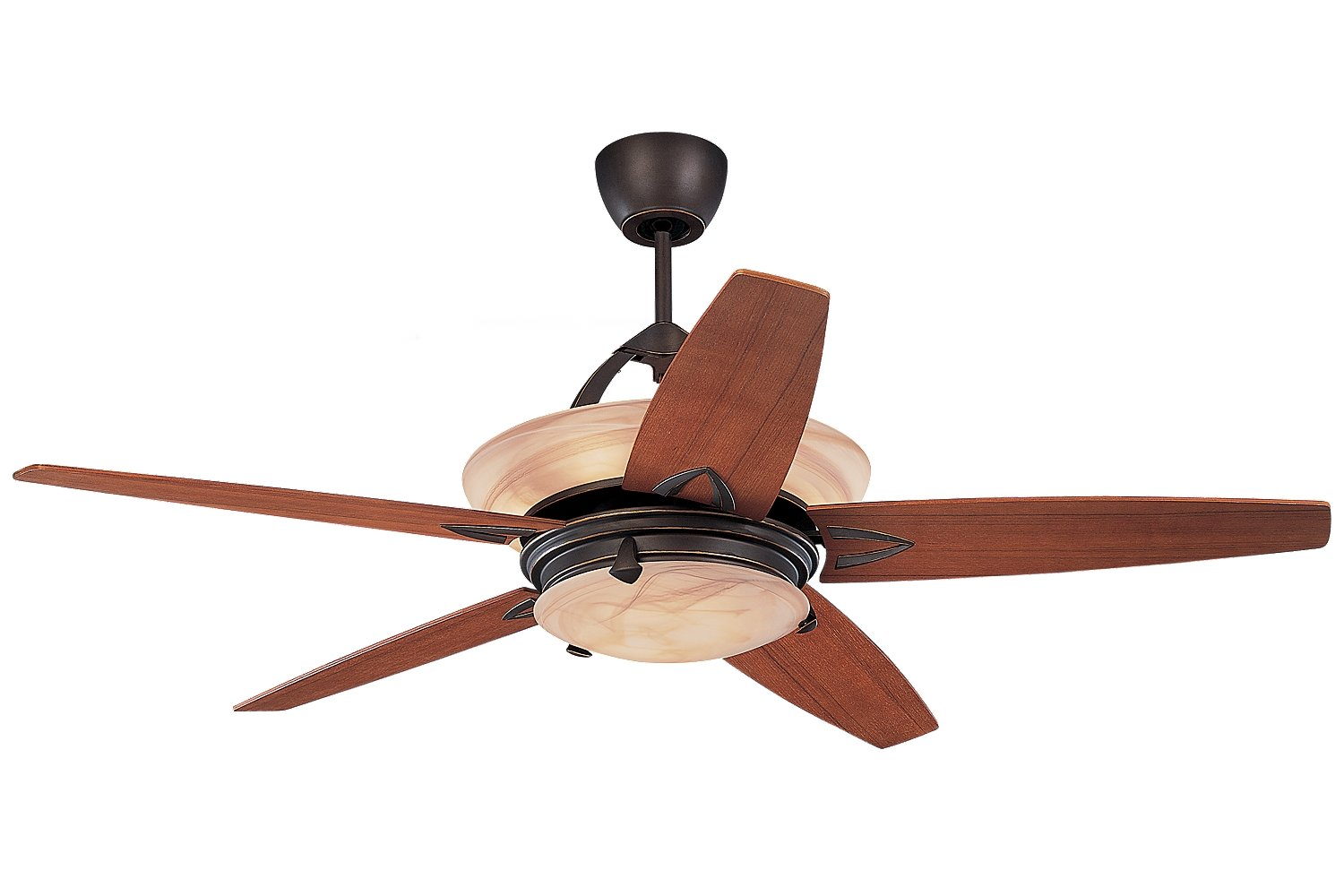 Monte Carlo 5AHR60RBD L Arch Ceiling Fan w Light & Wall or