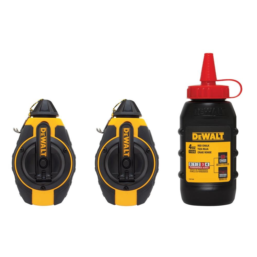 DEWALT 100 ft. Chalk Reel with Chalk-DWHT80286GC