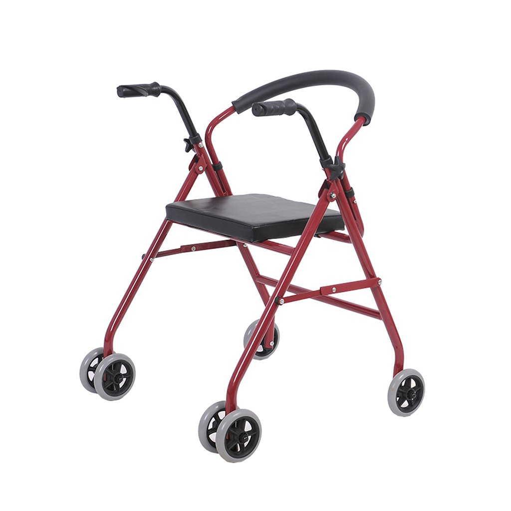 円高還元 HTTDIAN HTTDIAN ウォーキングフレーム - - ジマー歩行器障害者のためのシート付き車高齢者ウォーカーハンドプッシュウォーカーウォーキングスティックレッド B07NW73Q45 B07NW73Q45, いわぶん:66f689e1 --- a0267596.xsph.ru