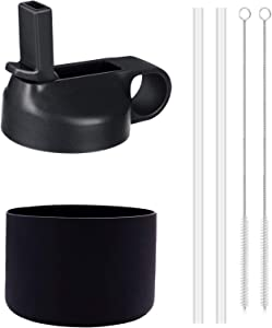 SPORTULA Wide Mouth Straw Lid and Boot for Hydro Flask and Most Wide Mouth Water Bottles from 12 oz - 40 oz