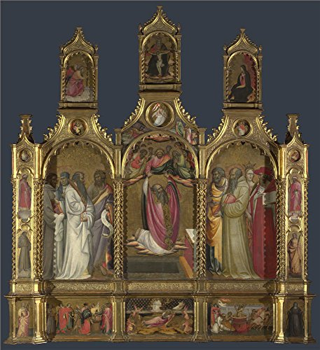 Oil Painting 'Giovanni Dal Ponte-Ascension Of John The Evangelist Altarpiece,about 1420-4' 20 x 22 inch / 51 x 56 cm , on High Definition HD canvas prints, Game Room, Laundry Room And Study Ro decor (Chrysler Street Rods For Sale compare prices)