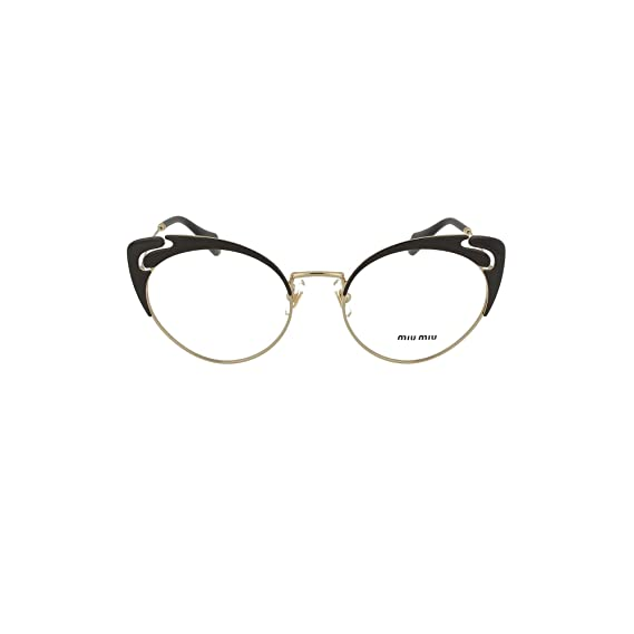 67d721d48cc Miu Miu NOIR EVOLUTION VMU 50R BLACK women Eyewear Frames  Amazon.co.uk   Clothing