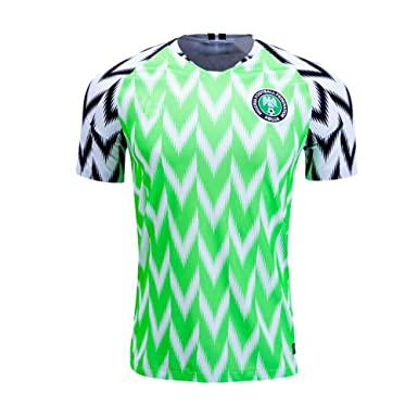 4981924e8 Amazon.com  Nigeria Jersey Mens 2018 Russia World Cup Home Adult National  Team Soccer Jerseys Green (Medium)  Clothing