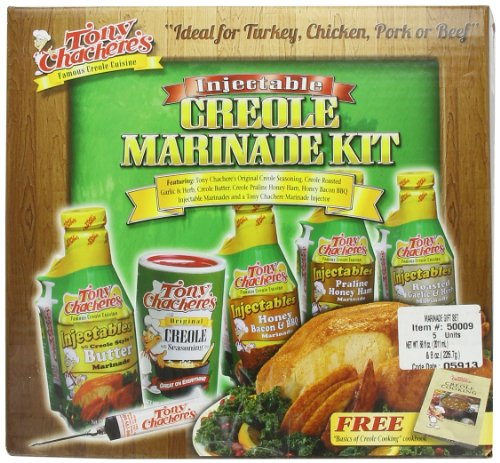 Creole Garlic Marinade - Tony Chachere Marinade Gift Set, 4-Pound 8 Oz  Packages