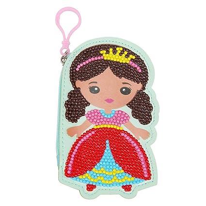 Everpert - Monedero de Punto de Cruz, diseño de niña con ...
