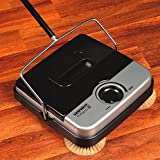 Household Essentials 11'' Non-Electric Floor Sweeper with Corner Brushes