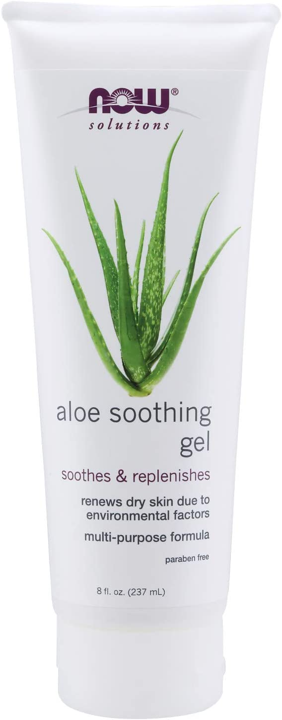 NOW Solutions, Aloe Soothing Gel, Soothing and Replenishing After Sun, Multi-Purpose Formula, 8-Ounce