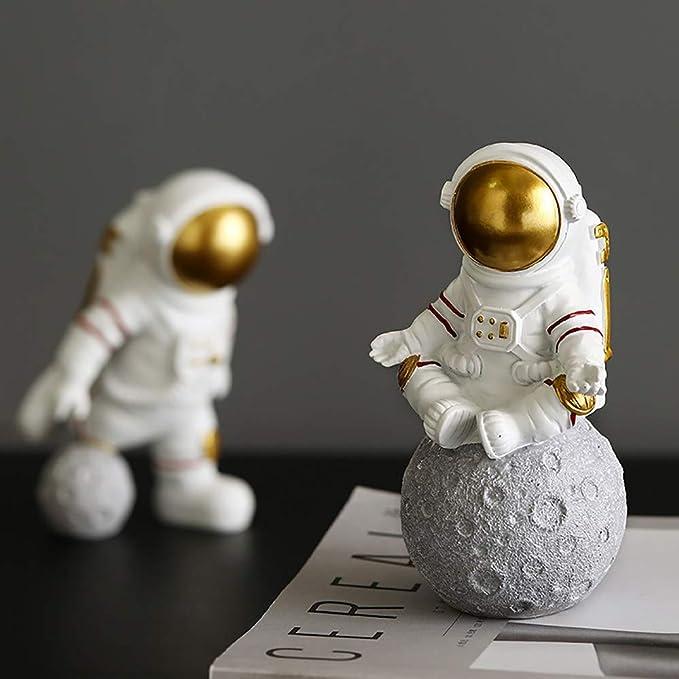 Modern Style Astronaut Statues Creative Sculptures Miniature Figurines Easter