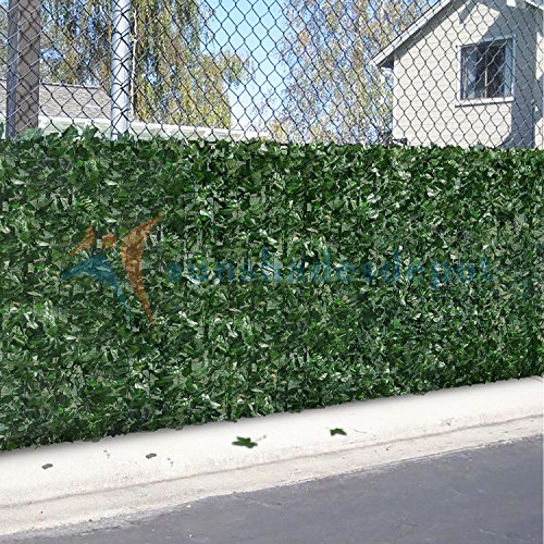 sunshades depot 4 39 x 8 39 artificial faux ivy privacy fence screen leaf vine decoration panel with. Black Bedroom Furniture Sets. Home Design Ideas