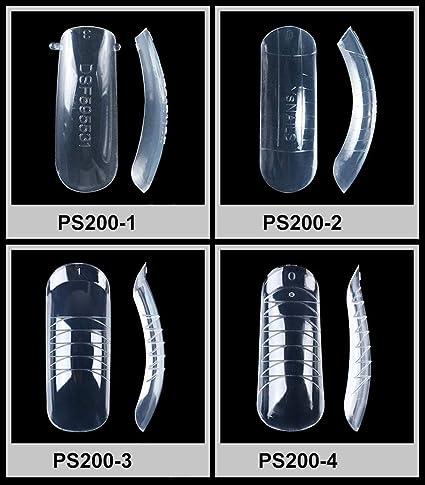Daimay 120 Piezas Falso Molde de uñas Cobertura Total Clear Dual Sistema de uñas de formularios Gel UV Acrílico Consejos Artificiales para uñas 12 Tamaño: ...