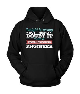 Amazon.com: commissioning ingeniero sudadera con capucha ...