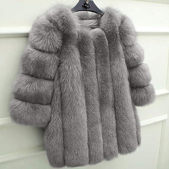 AOJIAN Women Jacket Long Sleeve Outwear Warm Plush Fuax Fur Outerwear Plus Size Solid Coat at Amazon Womens Coats Shop