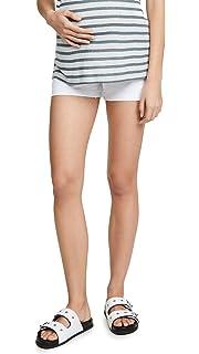 b456621d2beb2 Amazon.com: PAIGE Women's Maternity Jax Knee Short W/Elastic Insets ...
