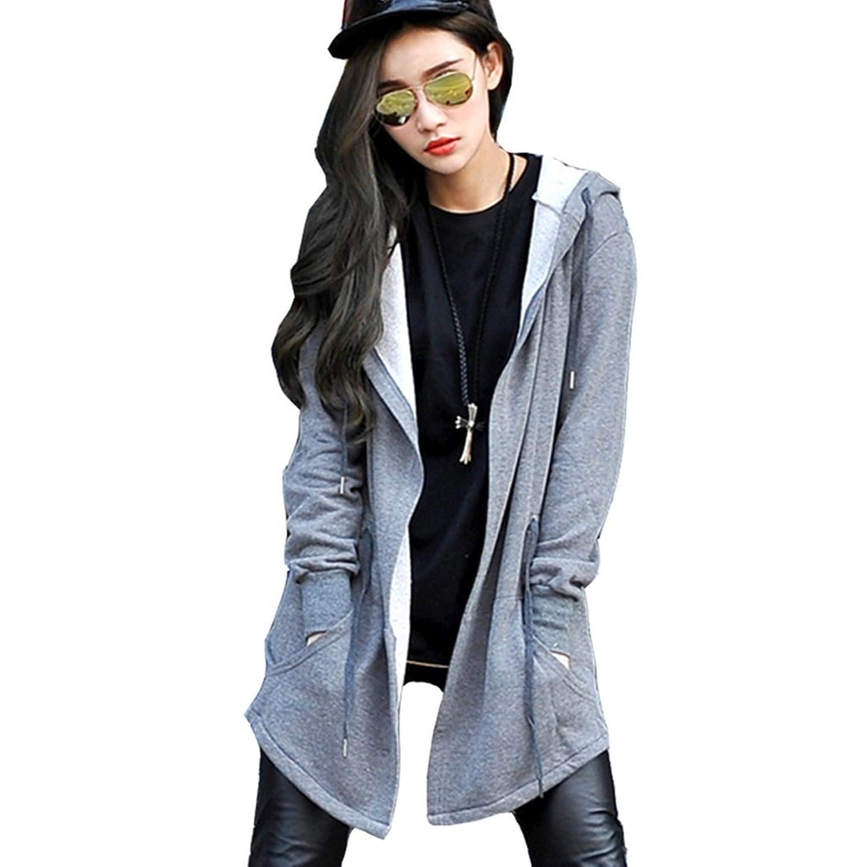 Pizoff Unisex Oversize Hip Hop Extra Long Coat Jacket Hoodie Dress