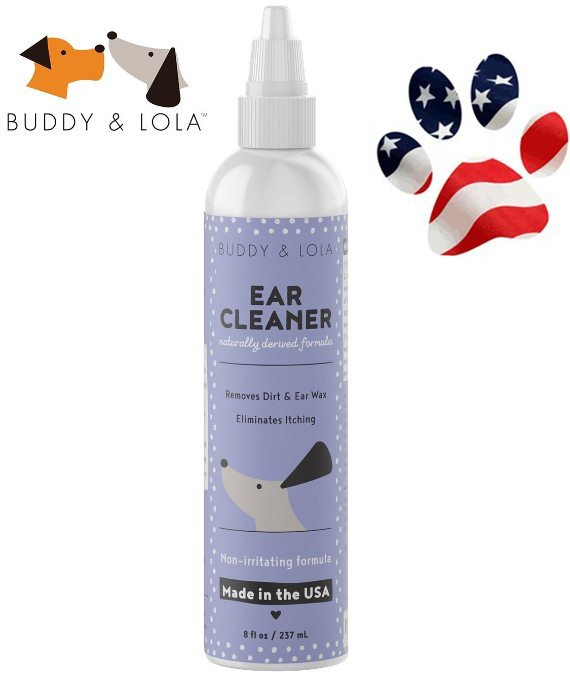 Healthy Clean Irritation & Infection Free Ears - Natural Dog Ear Cleaner - Re