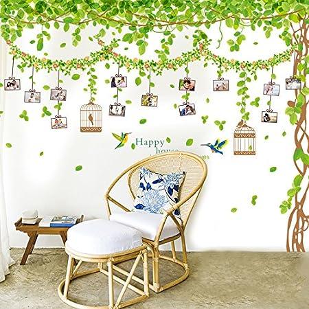 Wall Stickers Wall Decorative Sofa Wall Stickers Big Tree Leaf Green