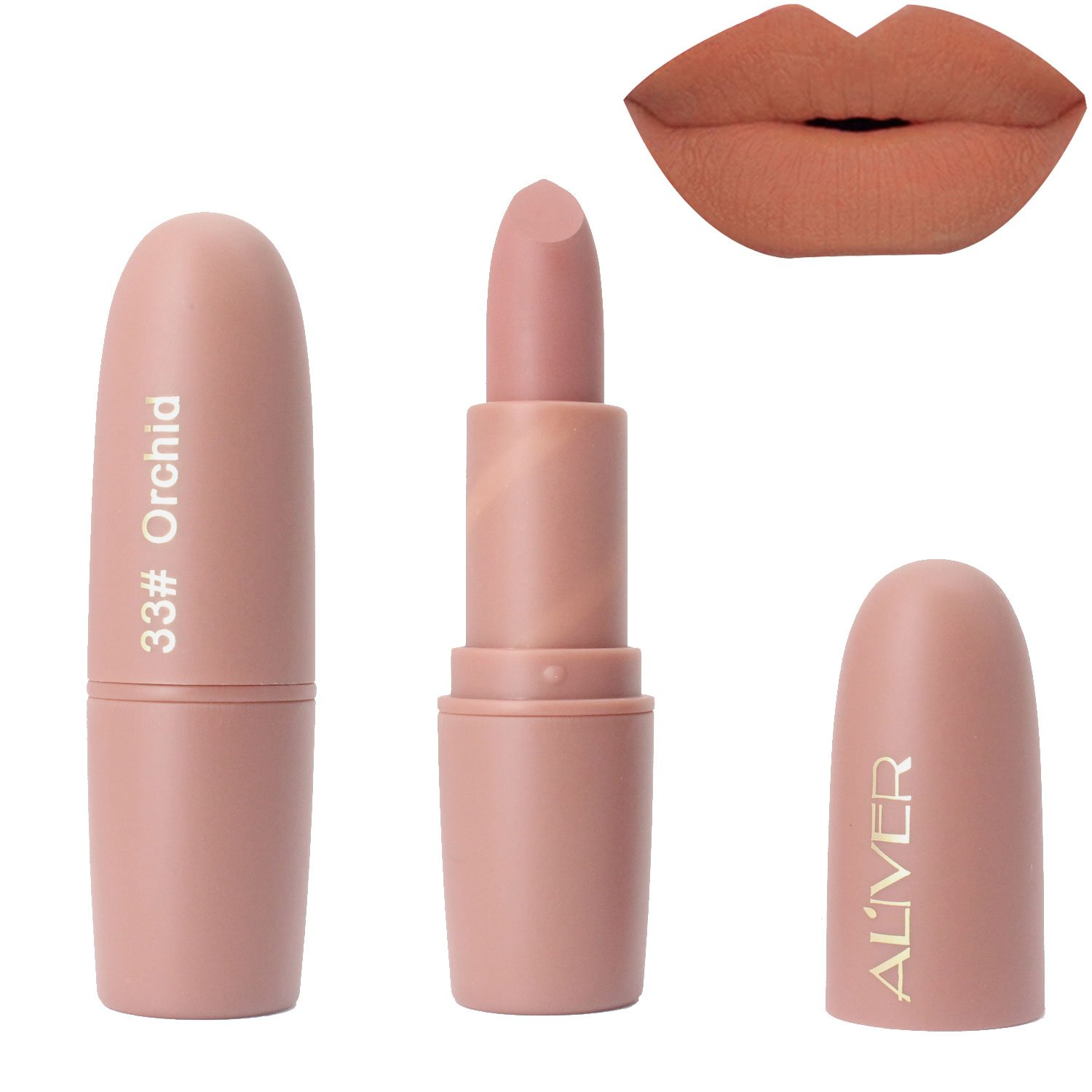 Aliver® Matte Lip sticks Perfect Summer Waterproof Lipstick Matte Finished Long Lasting Makeup Lip Glosses (#37) Mouis