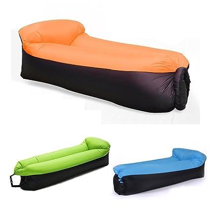 NewMum Sofa Hinchable-portátil Impermeable Durable Ligero poliéster sofá al Aire Libre Aire con Almohada para Camping, Playa, Parque, Patio