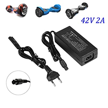 Fortspang Cargador de batería 42V 2A Adaptador de Corriente para Mini Smart Scooter eléctrico, Adaptador Universal de Cargador de batería para ...