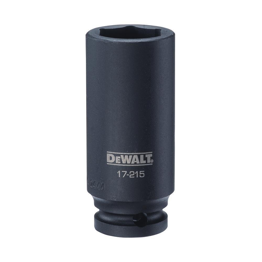 DEWALT 1/2'' Drive Impact Socket Deep 6PT 24MM