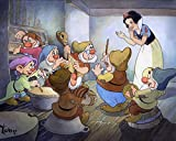 Snow White and the Seven Dwarfs: ''In Time to the Music'' by Toby Bluth - Hand-Signed Limited Edition of 195 - Hand Deckled Giclee on Paper - NEW 14.5x19 with COA - Published by Disney Fine Art