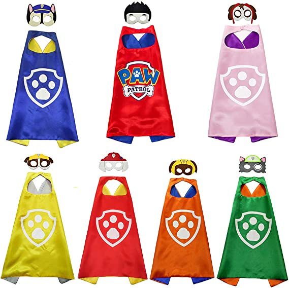 Character Costume for Birthday Edition Superhero Capes /& Mask for Kids Christmas Party Supplies