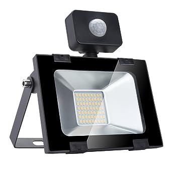 30w Foco led exterior con Sensor Movimiento ,Led Proyector para Exterior Iluminación Decoración alto brillo