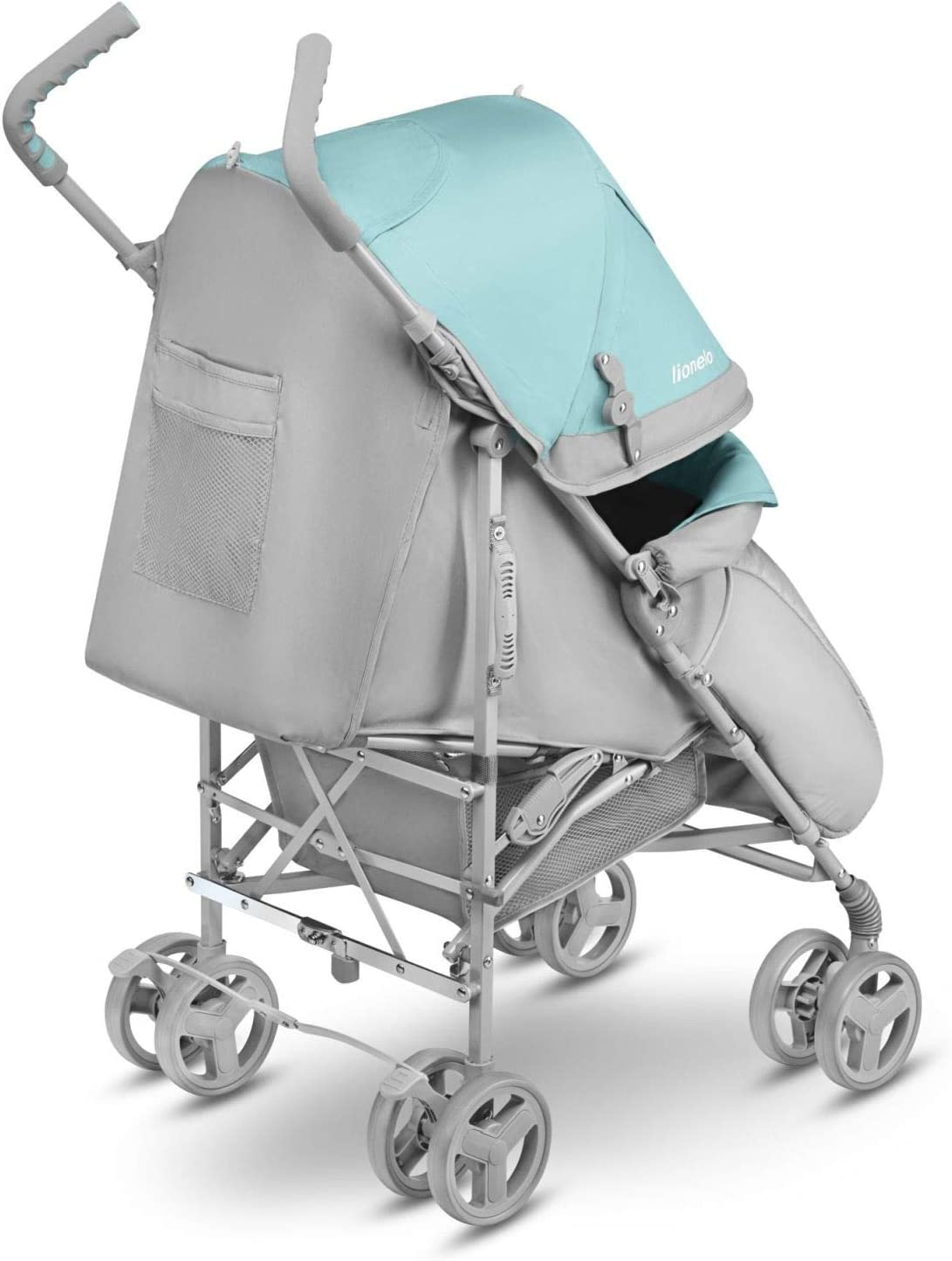 Lionelo Elia Buggy Small Folding Stroller from 6 Months to 15 kg Heavy Duty Mosquito Net Foot Cover Rain Cover