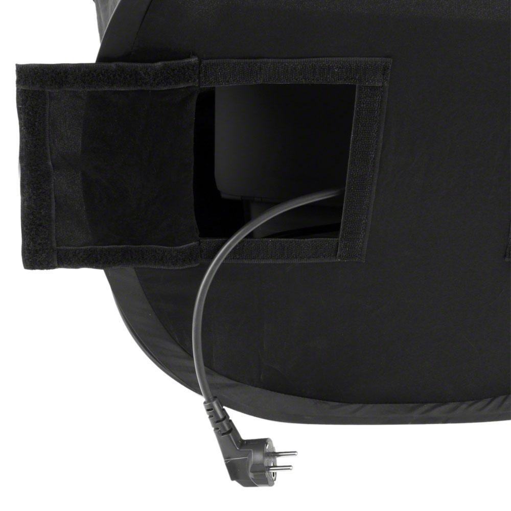 Walimex Pop-Up - Tienda protectora protectora protectora para el ordenador portátil (50 x 50 x 50 cm), color negro 530e3e