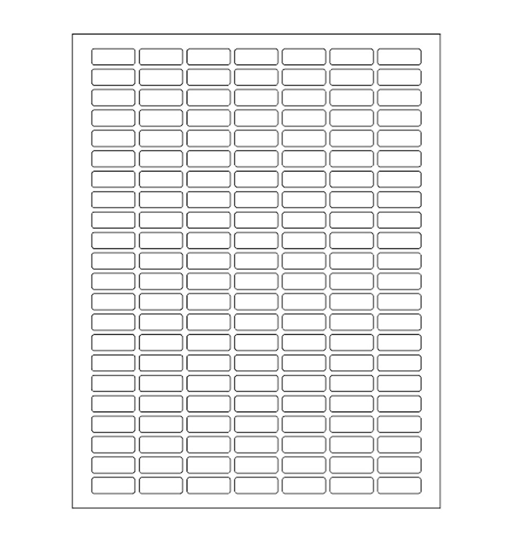 White Rectangular Labels + Bonus color labels -- Value pack-- white coding labels produce excellent results with standard laser printer-TEMPLATE included! 1660 pack