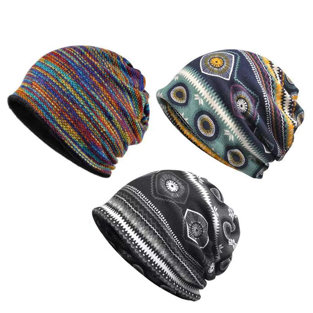 Sytaitp Chemo Caps Slouchy Beanie Hat Scarves for Women Cancer Patient Sleep Headwear Hair Loss 3pack