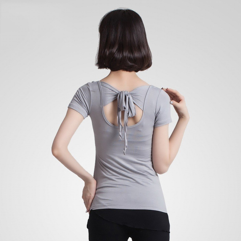 CWJ Sommer Square Dance Kleidung Tops Fitness Sport Kurzarm Yoga Laufbekleidung
