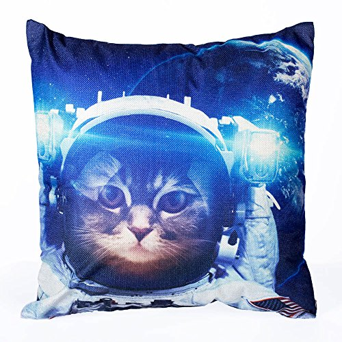 Decorative Pillows Sloth Astronaut Cat Nebula Galaxy Outer Space pillow cover 18 x 18 Inch