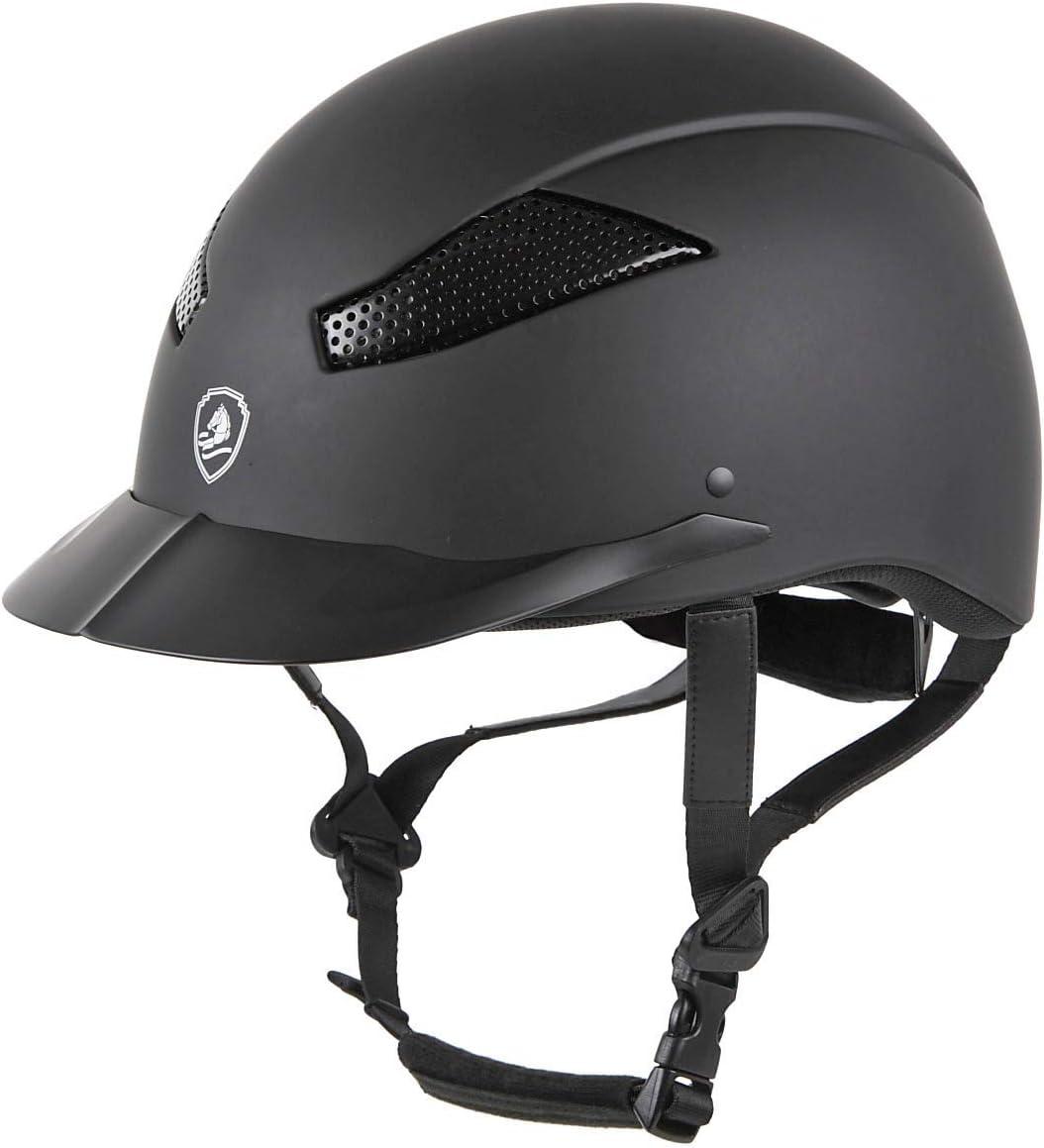 乗馬 ヘルメット プロテクター 乗馬帽 帽子 EQULIBERTA エアリー クールマックスダイヤル調整ヘルメット 乗馬用品 馬具 ブラック Small