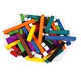 Wood Cuisenaire Rods, 74 Piece Set with Tray
