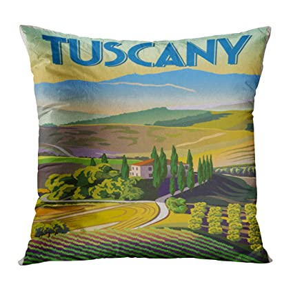 Amazon TOMKEYS Throw Pillow Cover Green Italian Summer Day In Extraordinary Italian Decorative Pillows