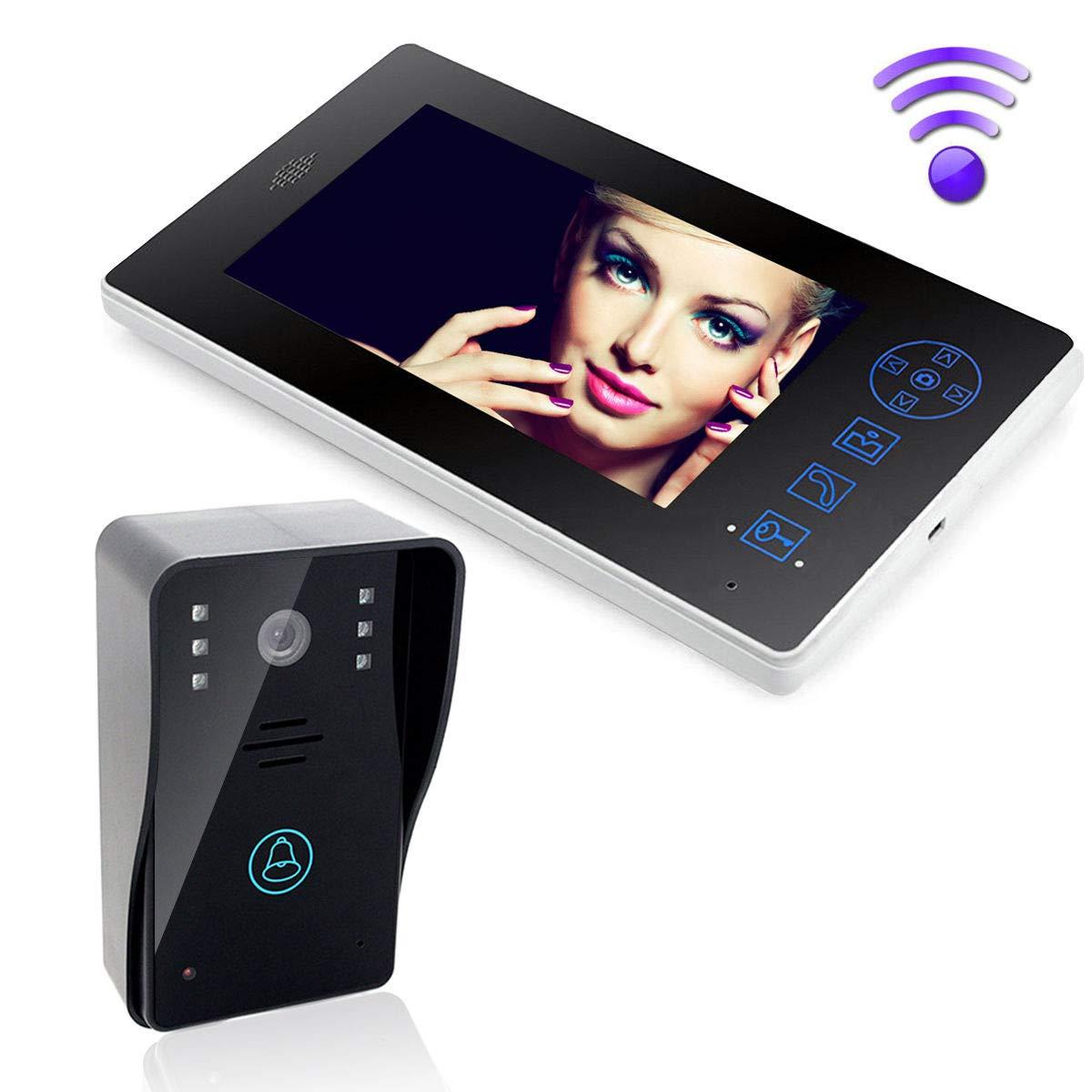 品質検査済 FidgetGear 7'' Wireless Video Door Phone Intercom Doorbell System Home Security IR Camera   B07QB2J75G, リトルシップ 6c185386