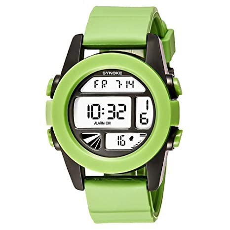 ChenHui Deportivo Reloj Digital Silicona Luminosa Piscina par Estudiante Impermeable Reloj