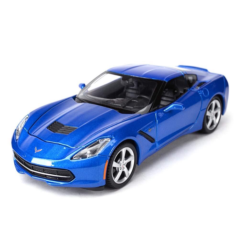 Auto Modello Model Car 2014 Chevrolet Corvette Car Model Modello in Scala 1 24 Die-Casting Model Modello in Lega Collezione Gift Decoration ( Colore   Blu )