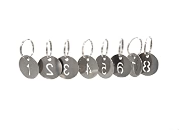 20a09f0d8 304 Stainless Steel Key Tags with Ring 20 pcs, 25mm Hollowed Number ID Tags Key  Chain, Numbered Key Rings - 1 to 20: Amazon.ca: Office Products