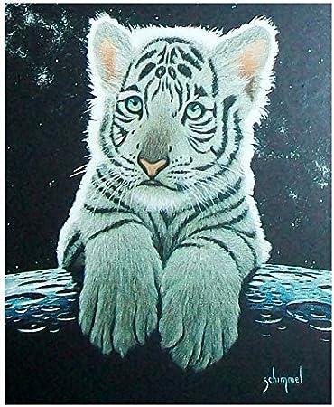 serviette de plage par/éo de sauna-tiger-tigerbaby-motif: /«tigerbaby tigerbaby white 150 x 75 cm Tapis de bain blanc 100/% coton-taille xL: env