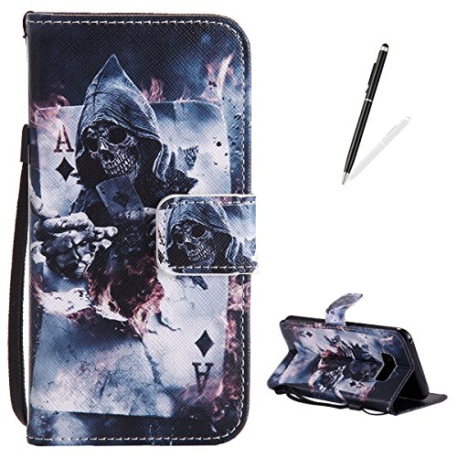 The Big Bang Theory Halloween Party (Samsung Galaxy S8 Plus Flip Leather Case,KaseHom Slim Magnetic Wallet Case [Free Black Stylus] Magician Poker Pattern with Lanyard Card Slots Kickstand Anti-Scratch Protective Skim Cover)