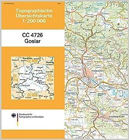 Goslar Karte.Goslar Topographische Karte 1 200 000 Cc4726 Topographische