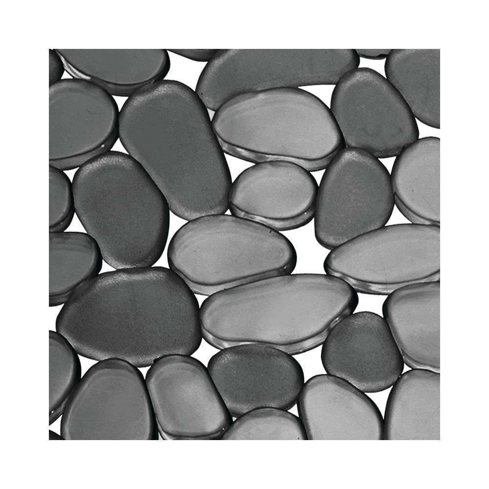 mDesign Adjustable Kitchen Sink Dish Drying Mat/Grid - Soft Plastic Sink Protector, Cushions Sinks, Dishes - Quick Draining Pebble Design - Includes 1 Saddle, 2 Large Mats - Set of 3 - Black by mDesign (Image #6)