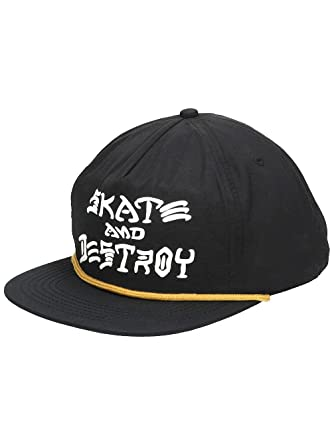 260d473d3d155 Thrasher Skate and Destroy Puff Ink Snapback Hat Black OS at Amazon ...