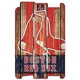WinCraft MLB Boston Red Sox Wood Fence Sign, Black