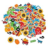 100 ~ Pumpkin Patch Foam Stickers / Shapes ~ 1'' to 2'' ~ New