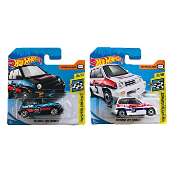 Hot Wheels 85 Honda City Turbo II HW Speed Graphics Pack 2
