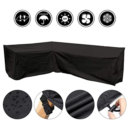 Astonishing Gemitto Waterproof L Shape Garden Furniture Cover Sofa Rattan Furniture Set Cover Protector Outdoor Garden Patio Home Interior And Landscaping Ologienasavecom